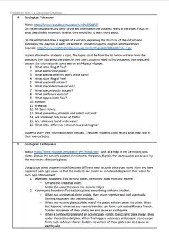 Natural Disasters - Science Unit Lesson Plans