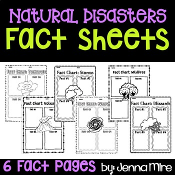 Natural Disasters Fact Sheets