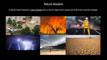Natural Disasters - Tropical Cyclones and Their Affect on People Power Point