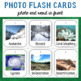 Natural Disasters Photo Flash Cards Photo and Word in front