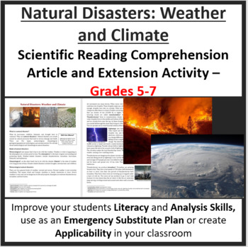 Natural Disasters: Weather and Climate - Science Reading Article - Grades 5-7