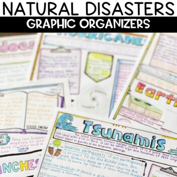 Natural Disasters Wild Weather Sketch Note Activity Bundle