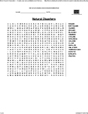 Natural Disasters- Word Search