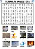 Natural Disasters Word Search