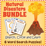 Natural Disasters Word Search BUNDLE