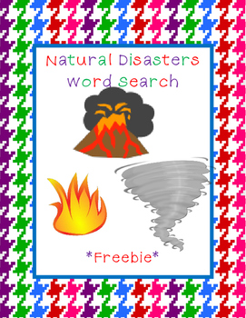 Natural Disasters Word Search *FREEBIE*