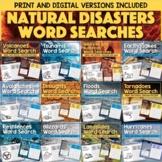Natural Disasters Word Searches BUNDLES— Printable & Digit