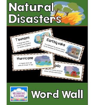 Natural Disasters: Science Vocabulary Word Wall