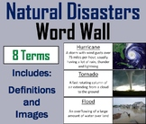Natural Disasters Word Wall Cards (Severe Weather Vocabulary)