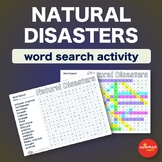 Natural Disasters * WordSearch * Vocabulary * Warm Up * Bell Ringer *