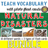 Natural Disasters 30 Flash Cards [3 different types] BUNDL