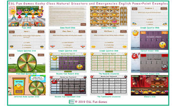 Natural Disasters and Emergencies Kooky Class English PowerPoint Game
