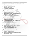 Natural Disasters and Emergencies Multiple Choice Spanish Worksheet