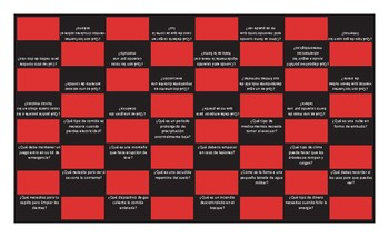 Natural Disasters and Emergencies Spanish Checker Board Game