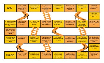 Natural Disasters and Emergencies Spanish Slides and Stairs Board Game