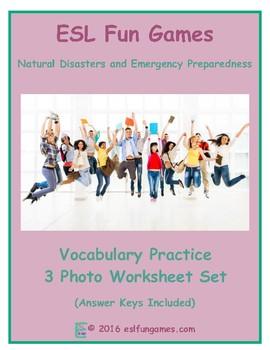 Natural Disasters and Emergency Preparedness 3 Photo Worksheet Set