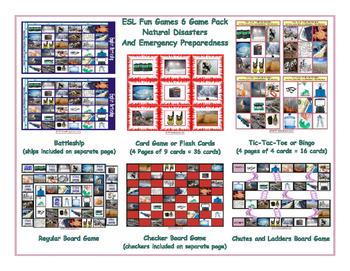 Natural Disasters and Emergency Preparedness 6 Board Game Bundle