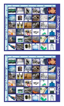Natural Disasters and Emergency Preparedness Legal Size Photo Battleship Game