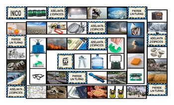 Natural Disasters and Emergency Preparedness Spanish Legal Size Photo Board Game