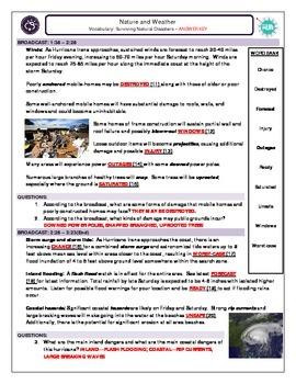 Natural Disasters_Surviving Natural Disasters_ANSWER KEY