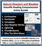 Natural Disasters and Weather - Grade 5-7 Science Reading Comprehension Bundle