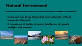 Natural Environments-Pictures of  Water and Land Formation
