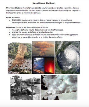 Natural Hazard City Report (MS-ESS3-2)