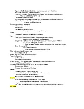 Natural Disasters/Hazards Notes