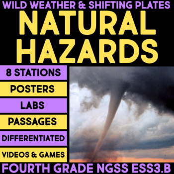 Natural Hazards - Wild Weather & Shifting Plates - 4th Grade Science Stations