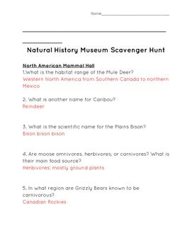 Natural History Museum, Los Angeles Scavenger Hunt
