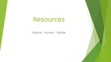 Natural, Human, Capital Resources