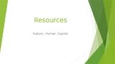 Natural, Human, Capital Resources