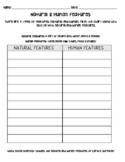 Natural & Human Features worksheet