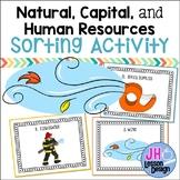 Natural Capital and Human Resources SORT