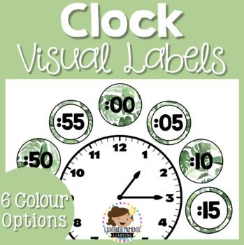 Natural Leaves Clock Labels FREE