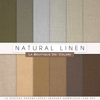 Natural Linen Digital Paper, scrapbook backgrounds