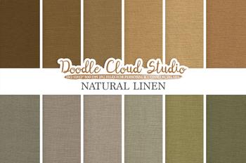 Natural Linen Fabric digital paper pack, Solid Backgrounds, burlap linen jute