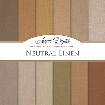 Natural Linene Textures - Digital Paper