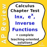 Calculus Test - lnx, exponential, inverse functions