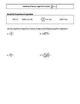 Natural Logarithm Antiderivative 1/x Lesson