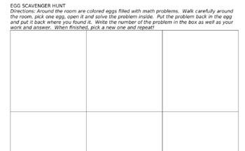 Natural Logarithms Lesson and Easter Egg Hunt Activity