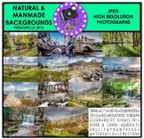 Natural & Manmade Backgrounds Photo Set {Educlips}