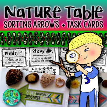 Nature Table Task Cards & Sorting Arrows {for grouping natural materials}