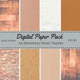 Natural Materials Digital Paper Pack - Wood, Fabric, Brick & Cork - 8 Designs