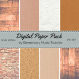 Natural Materials Digital Paper Pack - Wood, Fabric, Brick