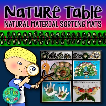 Natural Material sorting, grouping and display mats for your Nature Table