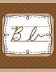 Natural/  Montessori style cursive alphabet