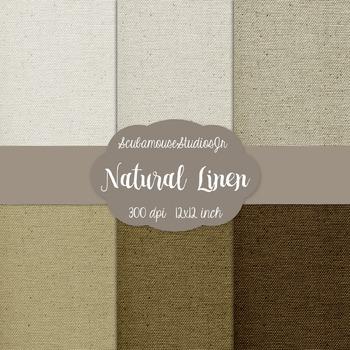 Natural Neutral Linen Digital Paper Backgrounds, 300 dpi,