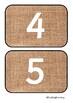 Natural Number Line Flashcards 0-100