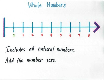 Natural Numbers, Whole Numbers, Integers and Rational Numbers